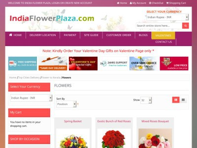 Flowers to India, Online